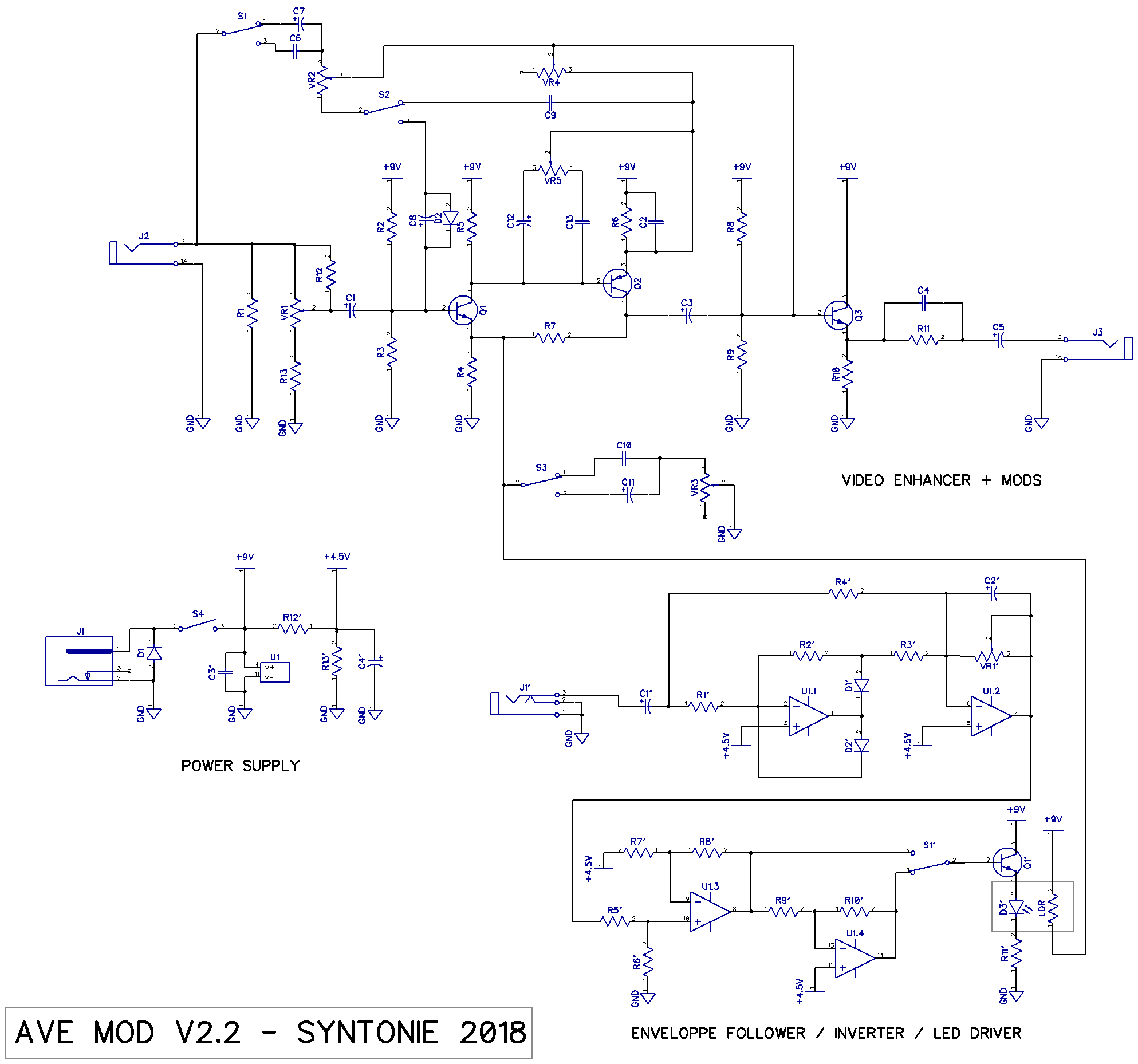 Ave Mod V2 Syntonie Envelope Follower Schematic V22 Schematics